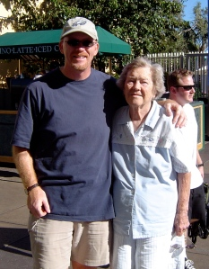 A Guy and His Mom at Sea World - 2004