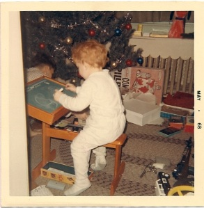 Left-handed early (age 2.7)