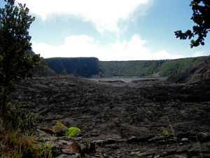 Entering the caldera floor