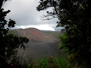 Kilauea Iki opening from the rim