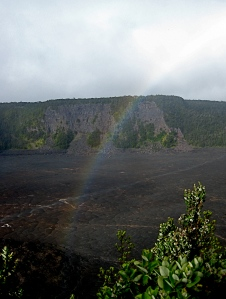 Rainbow in Kilauea Iki