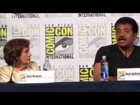 Druyan & deGrasse-Tyson at Comic-Con