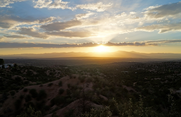 Sunset Over the Jemez Range
