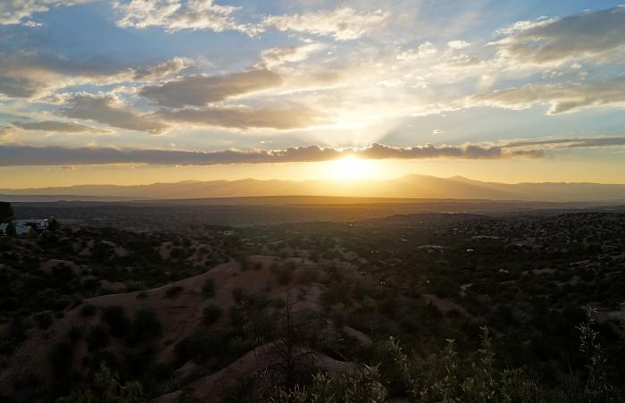 Sunset Over the Jemez Range